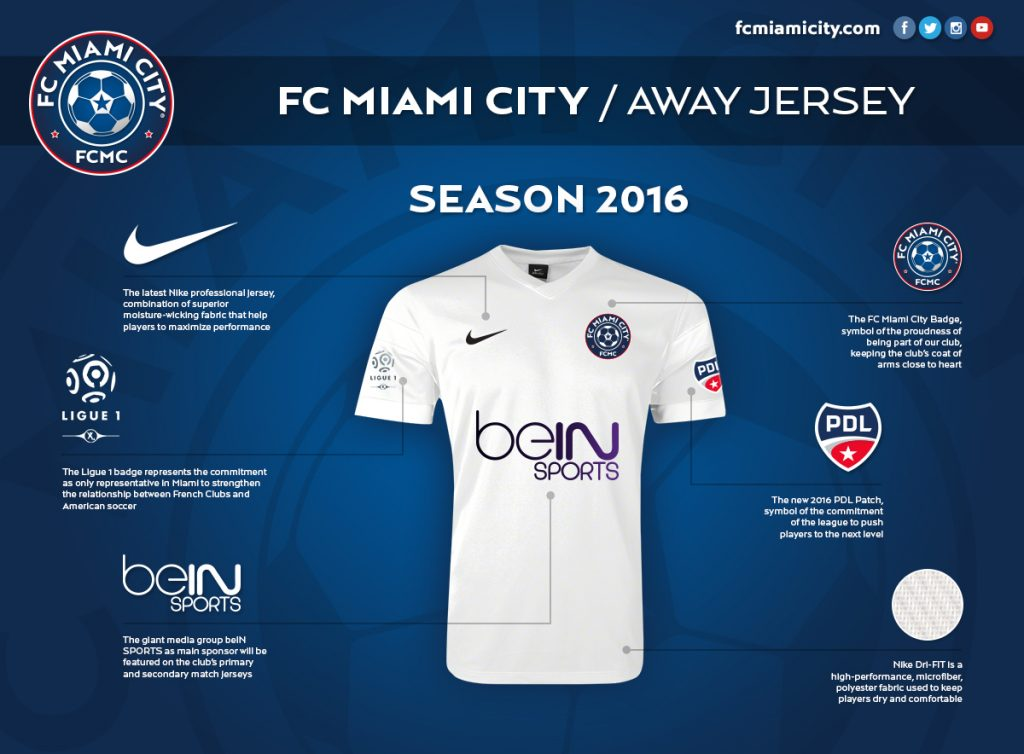 FC Miami City 2016 Away Jersey